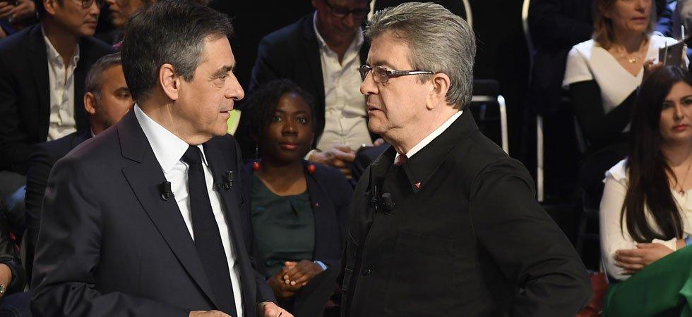 Présidentielle : Mélenchon fait jeu égal avec Fillon, Macron et Le Pen en perte de vitesse