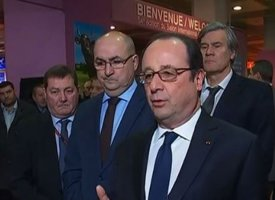 François Hollande inaugure le Salon de l'agriculture pour la dernière fois