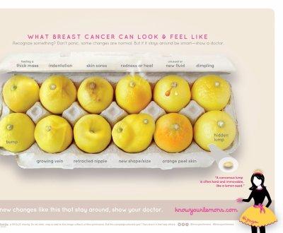 Ces citrons qui vous disent tout sur le cancer du sein