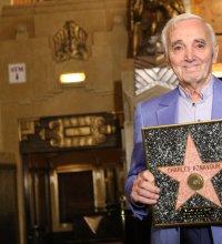 Charles Aznavour a reçu son étoile d'honneur à Hollywood