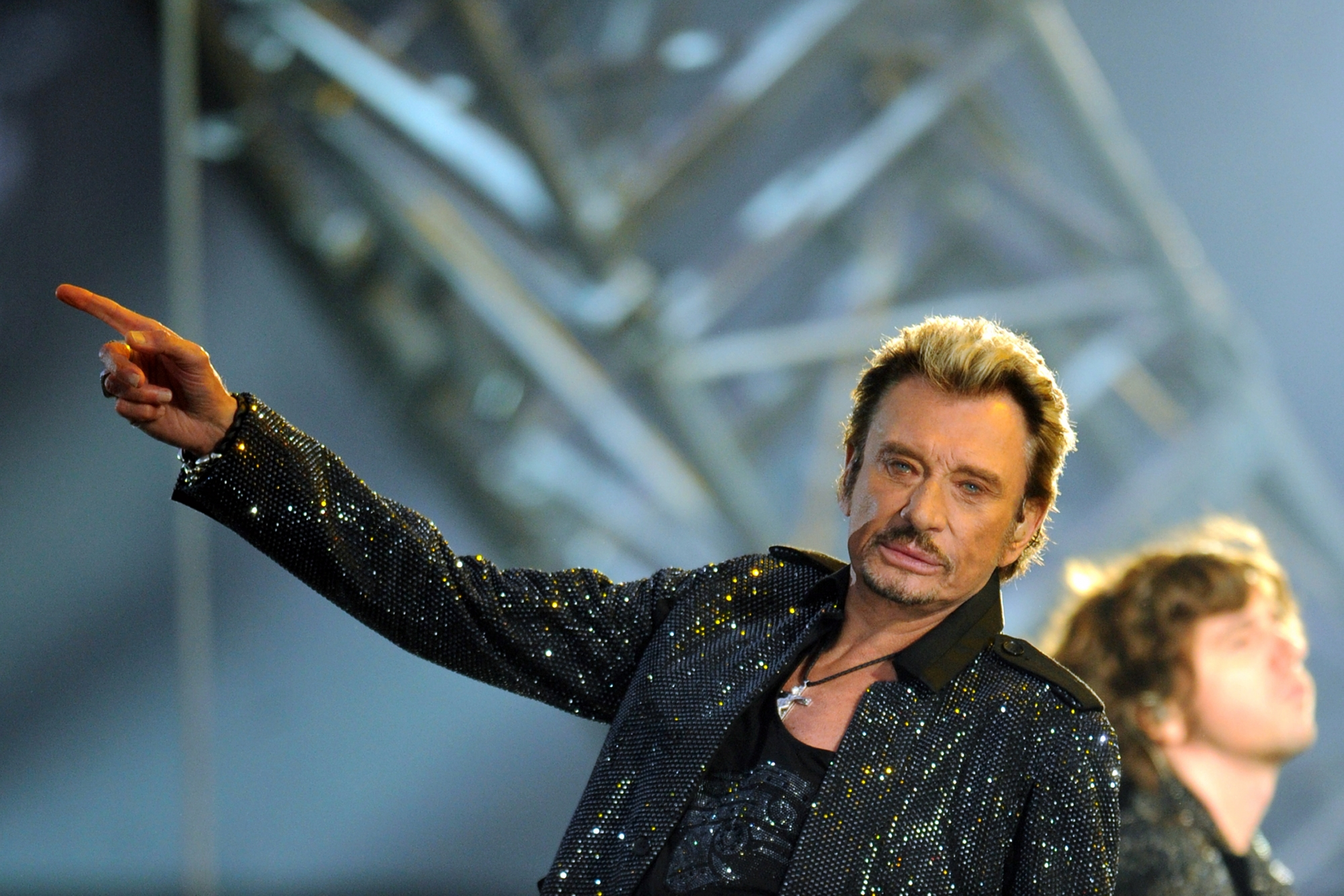 Un spectacle musical en préparation — Johnny Hallyday