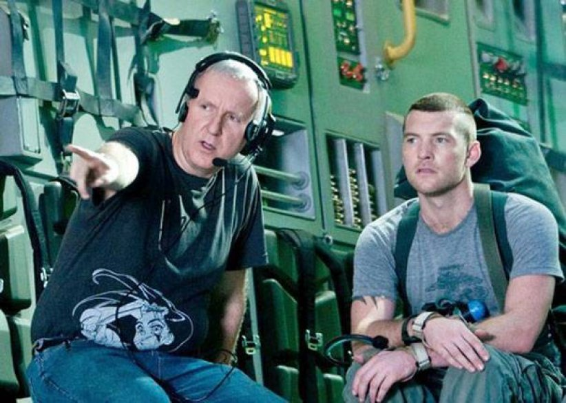 James Cameron et Sam Worthington