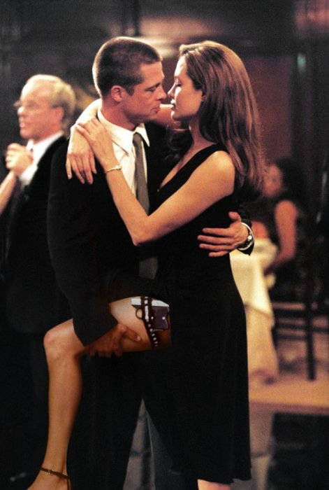 Brad Pitt et Angelina Jolie dans Mr. and Mrs. Smith