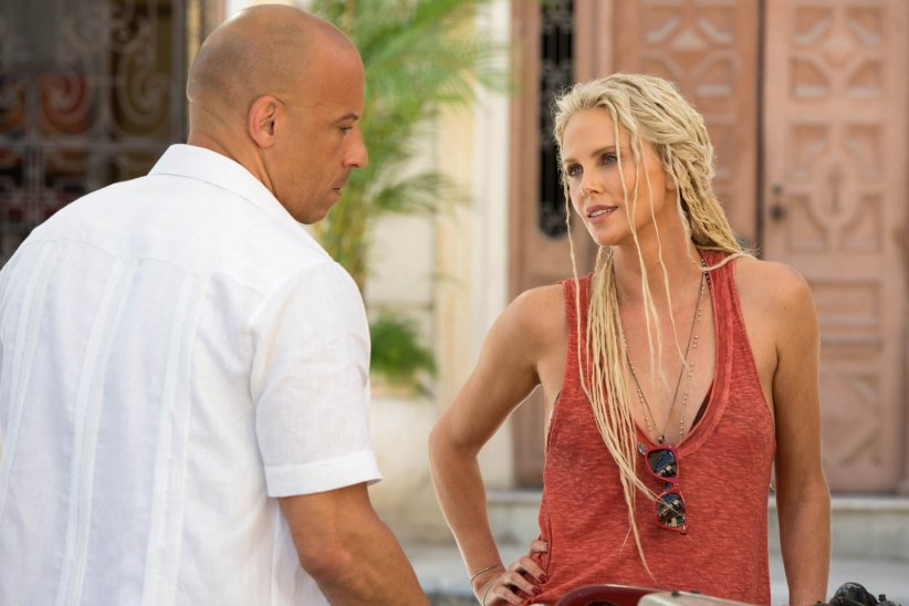 "Vin Diesel et Charlize Theron dans ""Fast and Furious 8"""