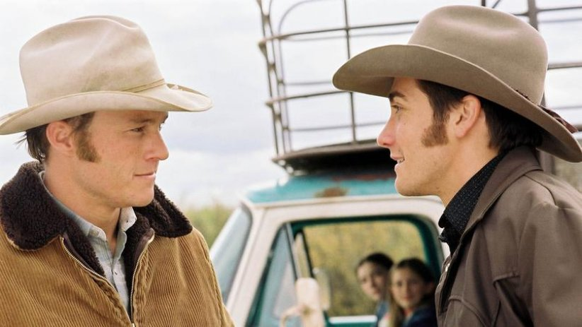 "Ennis et Jack dans ""Le Secret de Brokeback Mountain"""