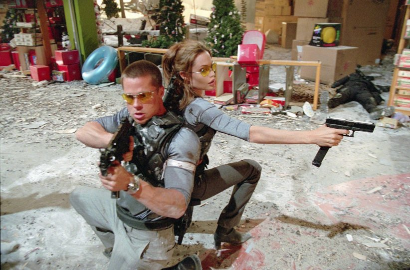 "Angelina Jolie et Brad Pitt, ""Mr & Mrs Smith"" (2005)"