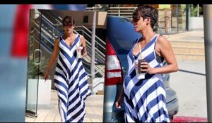 Halle Berry, enceinte, va chercher un smoothie à Los Angeles