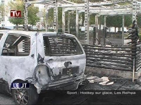 24 voitures brulées aux fontaines (tours)