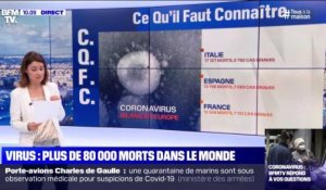 Virus: plus de 80 000 morts das le monde - 08/04