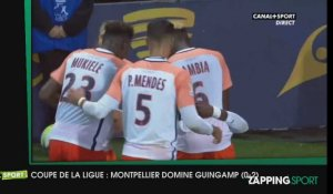 Zap Sport - 25 octobre - Montpellier domine Guingamp en Coupe de la Ligue (0-2)