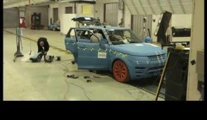 Crash testing of the All-New Range Rover Sport at Millbrook