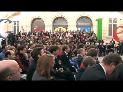 Google paris la vidéo de l inauguration des bureaux de google