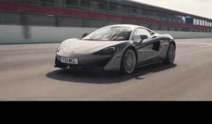 McLaren 570S Coupe - Blade Silver Driving Video on the Track | AutoMotoTV