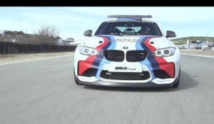The new BMW M2 Safety car Driving on the Racetract at Laguna Seca | AutoMotoTV
