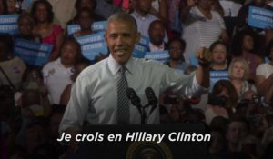 Obama : son vibrant plaidoyer pour Hillary Clinton