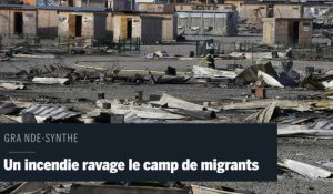 Grande-Synthe : un incendie a ravagé le camp de migrants