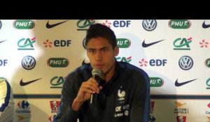 "France - Raphaël Varane: ""On ne s'attend pas à un match facile"""