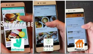 Deliveroo vs UberEATS vs Pizza.be : le comparatif