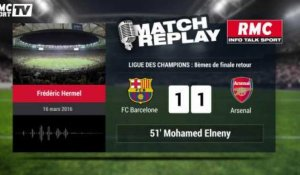 Barcelone - Arsenal : Le Goal Replay avec le son RMC Sport