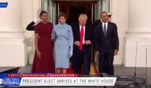 Barack Obama accueille Donald Trump à la Maison-Blanche