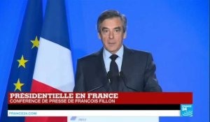 "REPLAY - Intervention de François Fillon : ""Je ne céderai pas"""