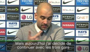 "24e j. - Guardiola : ""Agüero va jouer beaucoup de matches"""