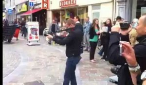 Flash-mob au centre de Verviers