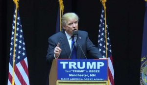 Etats-Unis: le New Hampshire vote, Trump en meeting
