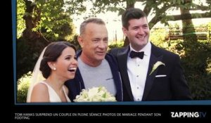 Tom Hanks surprend un couple en pleine séance photos de mariage pendant son footing