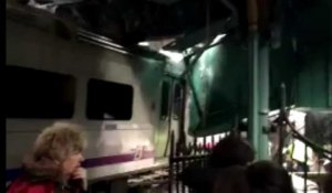 Grave accident de train de banlieue près de New York