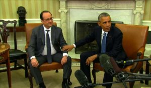 Etats-Unis: François Hollande rencontre Barack Obama