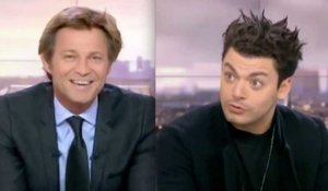 Quand Kev Adams vanne Laurent Delahousse - ZAPPING TÉLÉ DU 12/10/2015