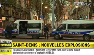 Opérations antiterroristes : deux explosions entendues à Saint-Denis