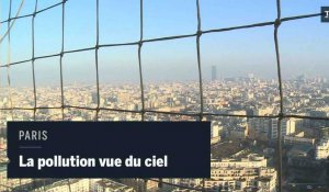 Paris : la couche de pollution vue du ciel