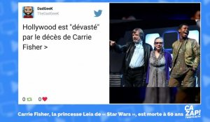 Les internautes rendent hommage à Carrie Fisher