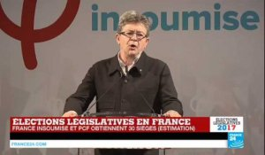 REPLAY - Législatives en France : Discours de Jean-Luc Mélenchon, chef de file de la France Insoumise