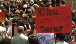 Londres: Manifestation contre Theresa May
