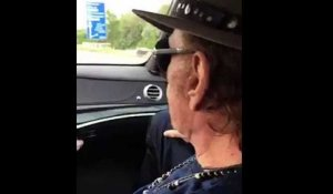 Johnny Hallyday escorté par des motards en Belgique