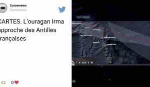 L'Ouragan Irma s'approche des Antilles