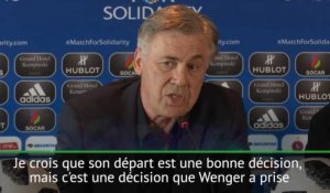 "Arsenal - Ancelotti: ""Beaucoup de respect pour Wenger"""
