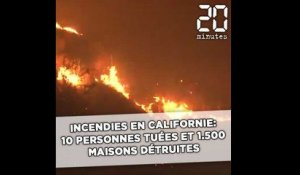 Incendies en Californie: 10 personnes tuées