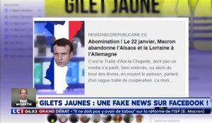 Gilets jaunes : une fake news sur Facebook !