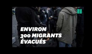 Évacuation du camp de 300 migrants de Saint-Denis