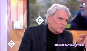 Bernard Tapie évoque Johnny Hallyday dans son combat contre le cancer