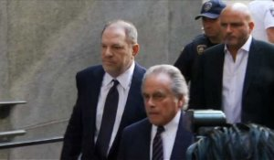 Harvey Weinstein arrive au tribunal de Manhattan