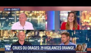 Crues ou orages: 29 départements placés en vigilances orange