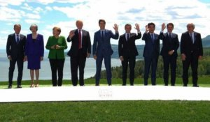 Photo de famille des leaders du G7 au Canada