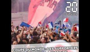 88cfa81e3f1 Coupe du monde   Les supporters célèbrent la victoire sur les Champs-Elysées