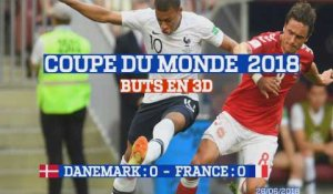 Buts en 3D : Danemark - France (0:0) Coupe du Monde 2018
