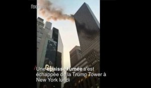 La Trump tower prend feu à New York